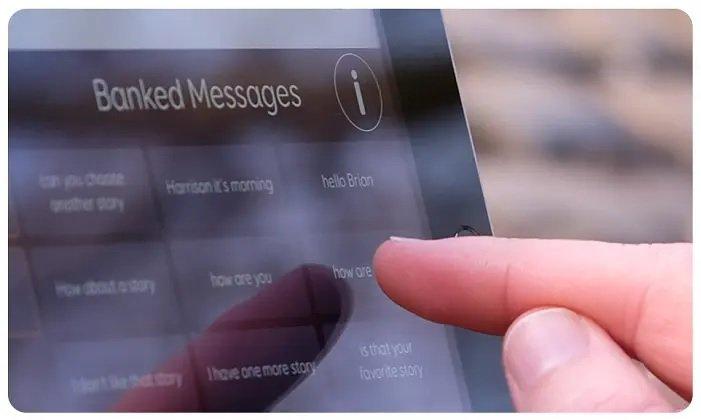 adult speech pathology, voice banking, message banking